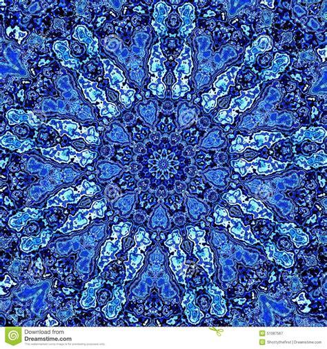 Detailed Image Beautiful Detailed Blue Mandala Fractal Abstract