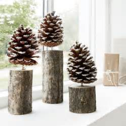 craft with pine cones pinecone trees pinecone snow and group