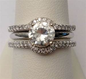 solitaire enhancer diamonds ring guard wrap white gold With wedding ring guard bands