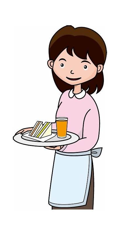 Waitress Clipart Clip Diner Retro Graphic