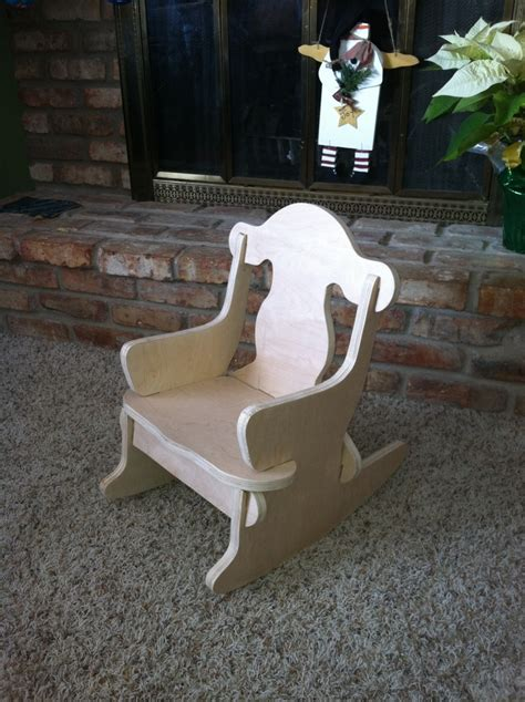 childs puzzle chair  nails  needed rocking chair
