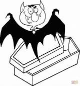Dracula Coffin Coloring Vampire Count Drawing Clip Clipart Printable Outlined Outline Vector Halloween Cartoon Coming Happy Illustration Scary Von Ghost sketch template