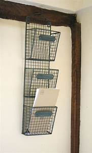 wire letter post stationery rack basket vintage chic With wire letter rack