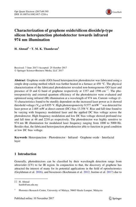 characterization  graphene oxidesilicon dioxidep