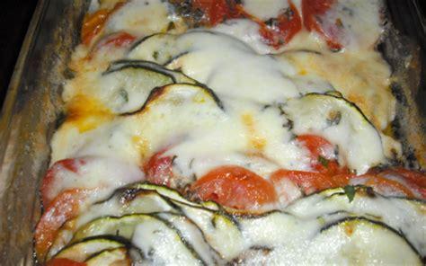 recette gratin de tomates courgettes  mozzarela