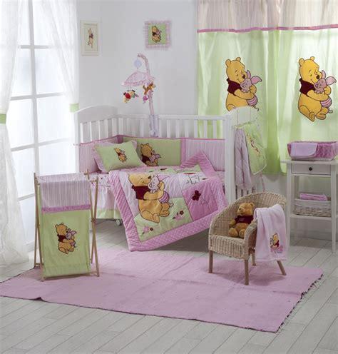 winnie the pooh crib set 4 pink winnie the pooh baby crib bedding cot set rrp