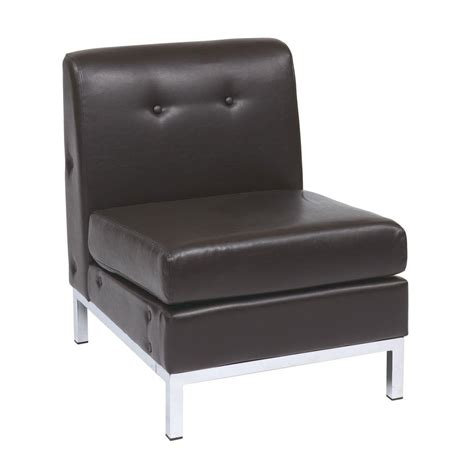 ave six wall espresso faux leather accent chair