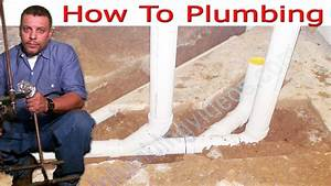 Plumbing Ground Rough In Slide Show