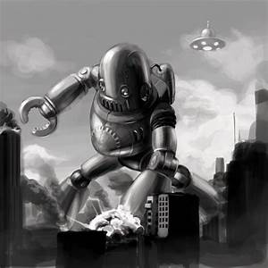 retro robot from outer space by justsantiago on DeviantArt