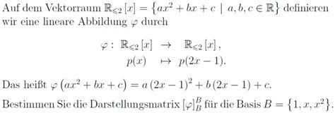 darstellungsmatrix berechnen berechnen sie die