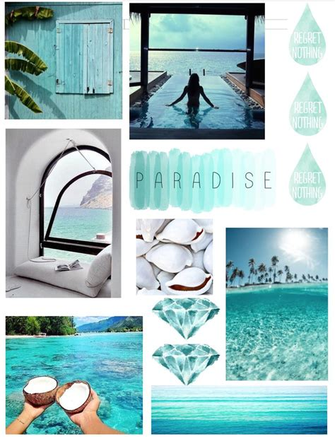 Tropical Tumblr Inspired Collage  Notebook Ideas