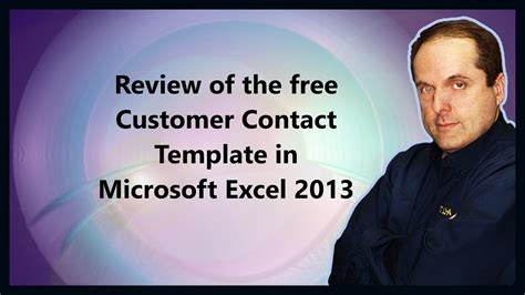 Such databases help the entity to understand the customers buying patterns in a better way and thus it is used to design different products based on the interests of the majority of the. Review of the free Customer Contact Template in Microsoft Excel 2013 - YouTube