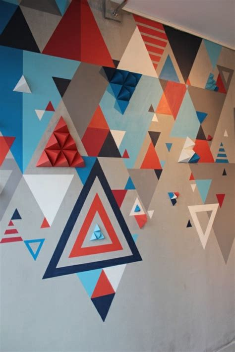 painting geometric shapes on walls geometric wall painting ideas weneedfun
