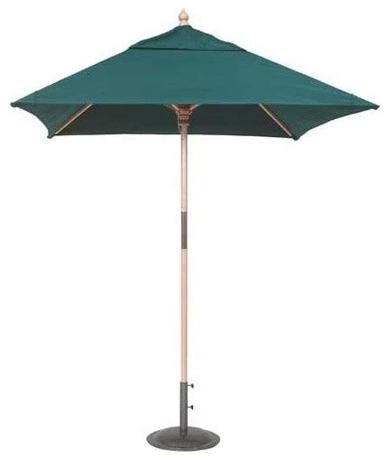 galtech 6 x 6 ft wood square patio umbrella modern