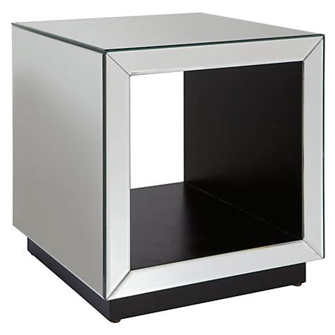 mirrored cube end table john lewis astoria mirrored cube side table mirror new