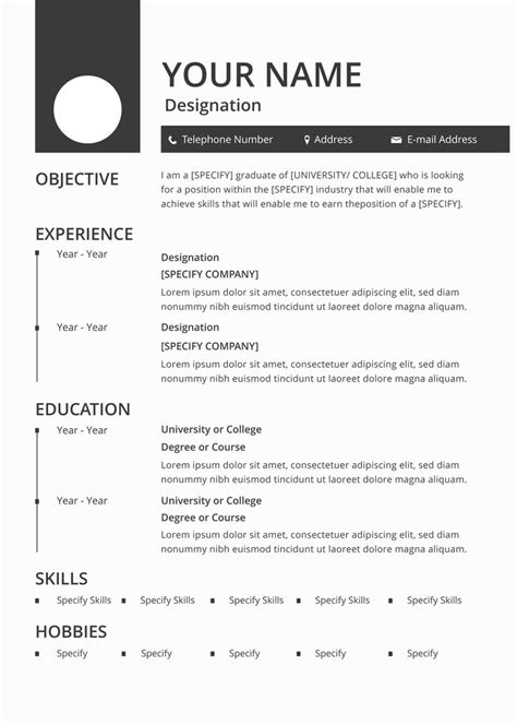 free blank resume cv template in photoshop psd illustrator ai and creativebooster