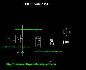 Free Circuit Diagrams 4u  110v    230vsimple Music Bell