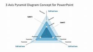 3 Axis Pyramid Diagram For Powerpoint