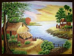 Roshni Shah Artwork: Evening in an Indian Village ...