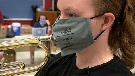 nmsu pride band develops special masks