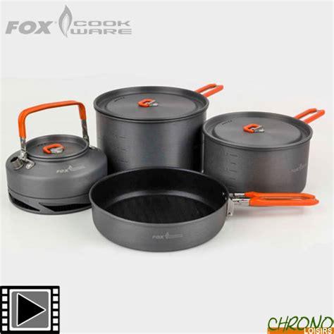 carpe cuisine set de cuisine fox cookware 4 pièces chrono carpe