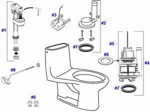 Toto Ultramax Toilet Replacement Parts