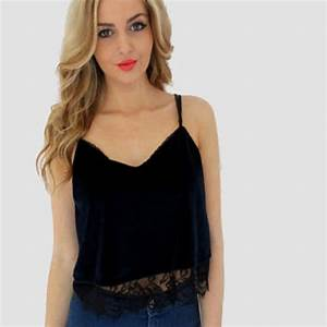 Summer Women Tops Camisole Sleeveless V Neck Solid Lace ...