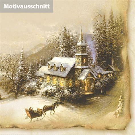 weihnachtskarten nostalgie winteridylle  sets inkl