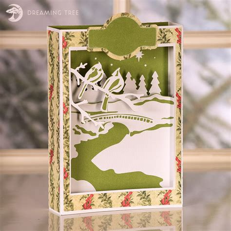 If you have a cricut, silhouette, or another cutting machine, christmas crafting just got a lot easier! Cardinals Paperscape Box Card - Beautiful Christmas Card ...