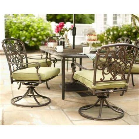 hton bay edington swivel patio dining chair with celery