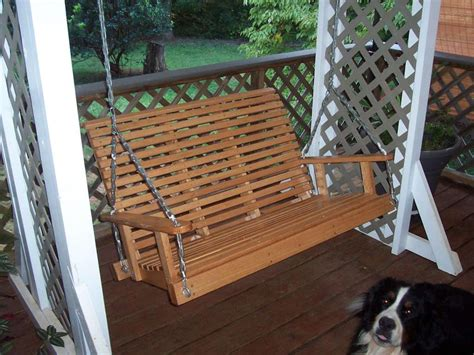 composite porch swing hanging wood porch swing mtc home design ideas