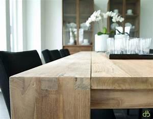Table De Salle À Manger Carrée : vente table en teck dbodhi carree gamme fissure table salon salle manger ~ Melissatoandfro.com Idées de Décoration