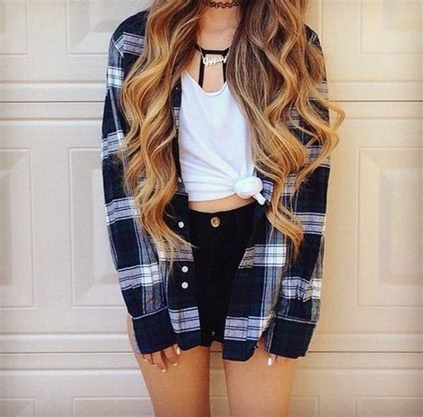 Cute Outfits For The Summer Tumblr - summer outfits outfit and plaid shirts on pinterestdress ...