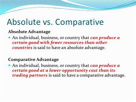 9b Absolute Comparative Advantage