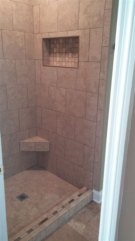 tile ready shower pan bathroom traditional with accent