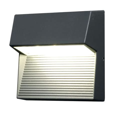 elstead radius square cree led exterior wall light ut