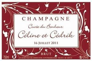 Etiquette Champagne Mariage : des tiquettes personnalis es champagne didiersavry ~ Teatrodelosmanantiales.com Idées de Décoration