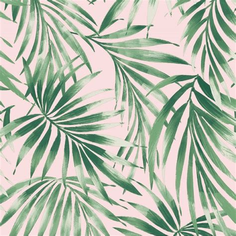 pink tropical leaves trail nature inspired wallpaper
