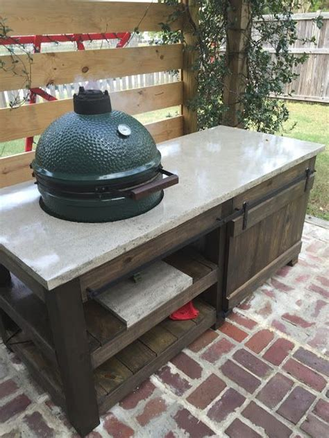 big green egg table plans with doors the perfect big green egg table with concrete top and barn
