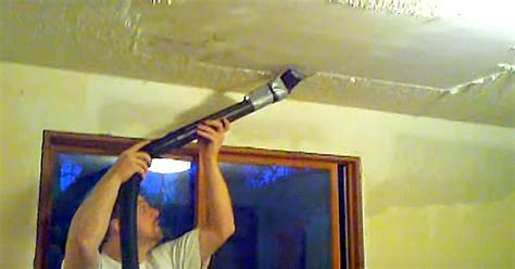 Remove Popcorn Ceilings by He Hates His Popcorn Ceilings Removes It In Minutes With