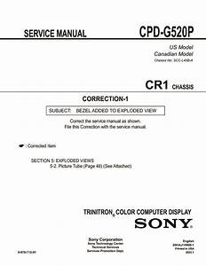 Sony Cpd-g520 Service Manual