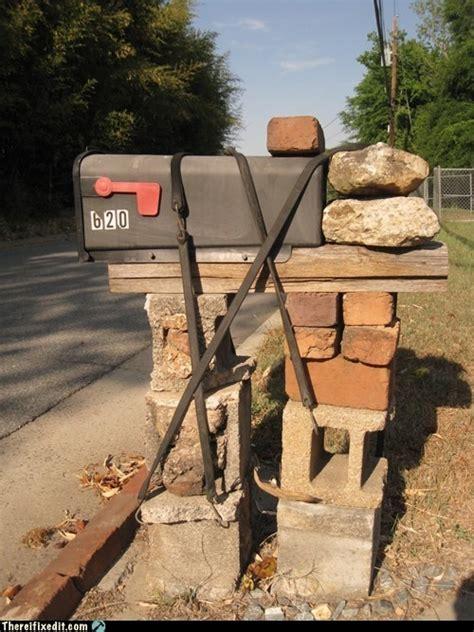 building  mailbox  concrete blocks woodworking