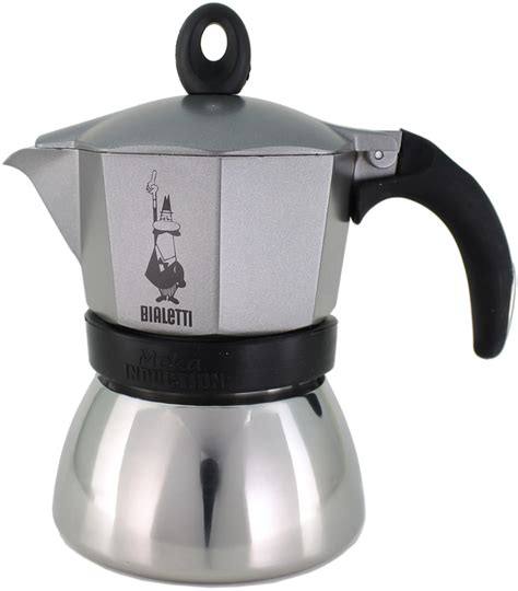 bialetti moka induction anthracite 6 cup moka pot crema