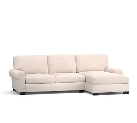 turner roll arm upholstered sofa with chaise sectional pottery barn