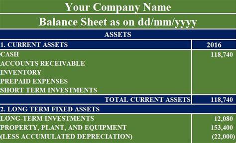 balance sheet excel template exceldatapro