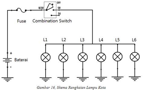 Gambarkan Wiring Diagram Lampu Kepala