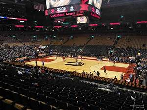 Air Canada Seating Chart With Seat Numbers Scotiabank Arena Section 107 Toronto Raptors