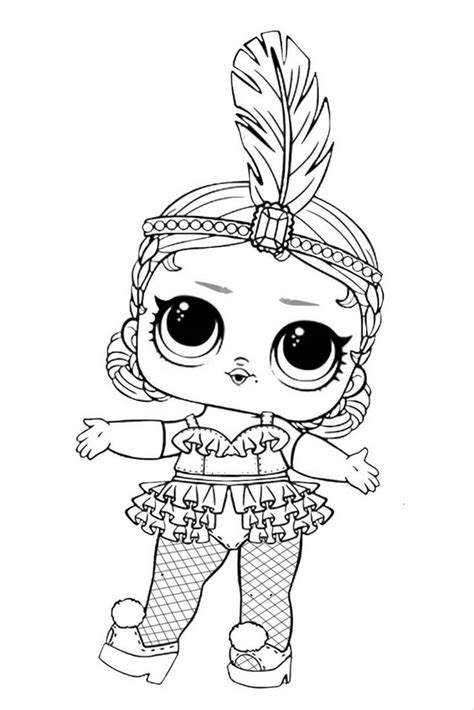 Lol Doll Free Colouring Pages