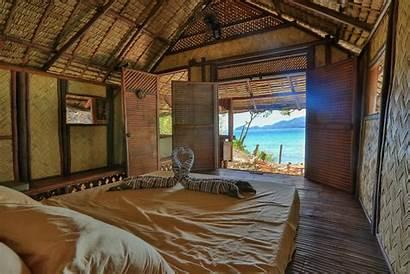 Philippines Bamboo Island Kubo Inside Camp Palawan