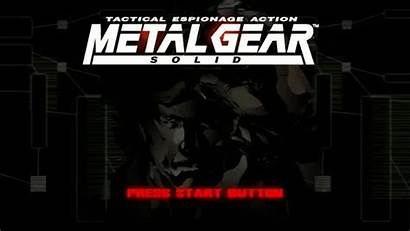 Gear Metal Solid Title Screen Espionage Tactical